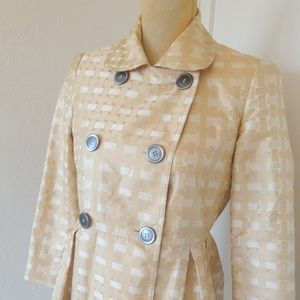 Burberry 100% silk coat dress